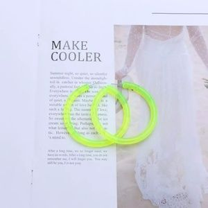 Jewelry - 🔥5 for $25🔥 Neon hoop Earrings